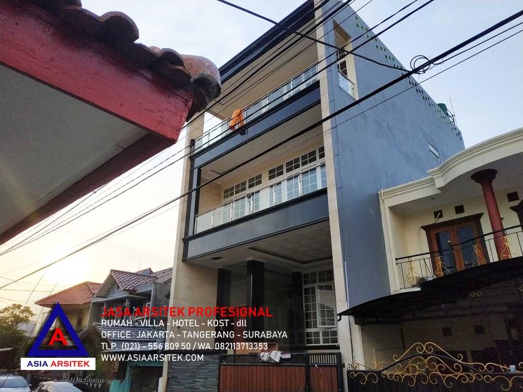 Realisasi Desain Rumah Mewah Minimalis Modern Ibu Novi di Jakarta Barat