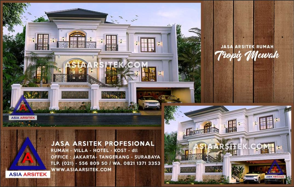 Jasa Arsitek Desain Gambar Rumah Mewah Di Pontianak Kalimantan Barat