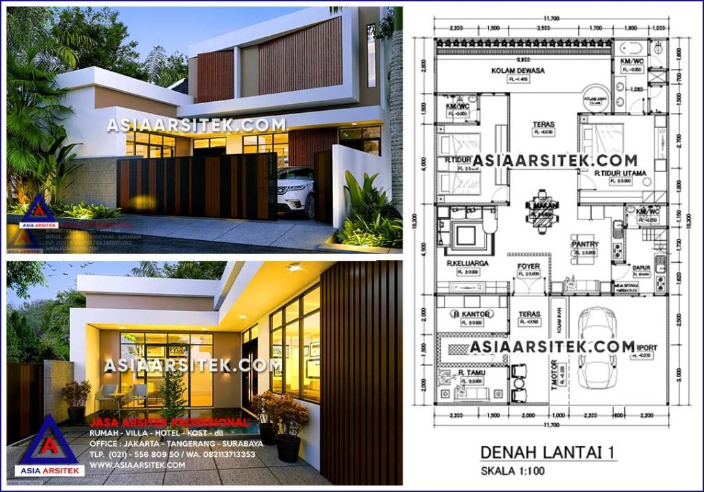 Jasa Arsitek Desain Rumah Minimalis 2 Lantai Bu Nina Di Tebet Jakarta Selatan