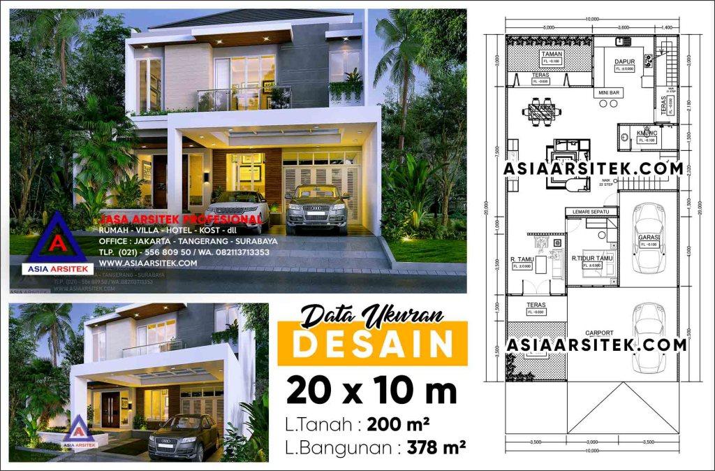 Jasa Arsitek Desain Rumah Minimalis Modern Pak Hendy Pondok Hijau Golf Gading Serpong Tangerang