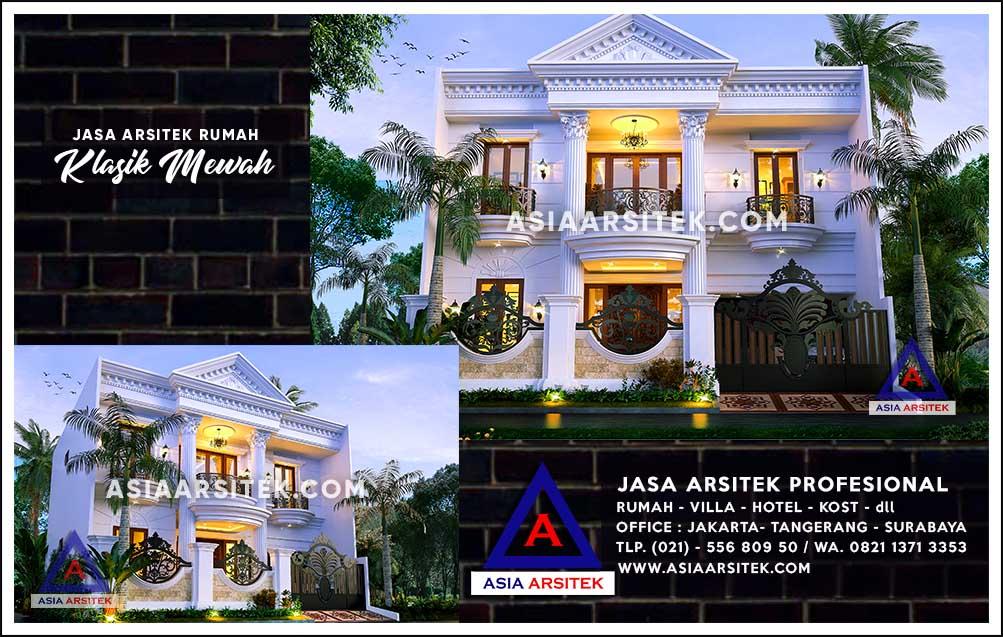 Jasa Arsitek Desain Gambar Rumah Mewah Di Utan Kayu Utara ...