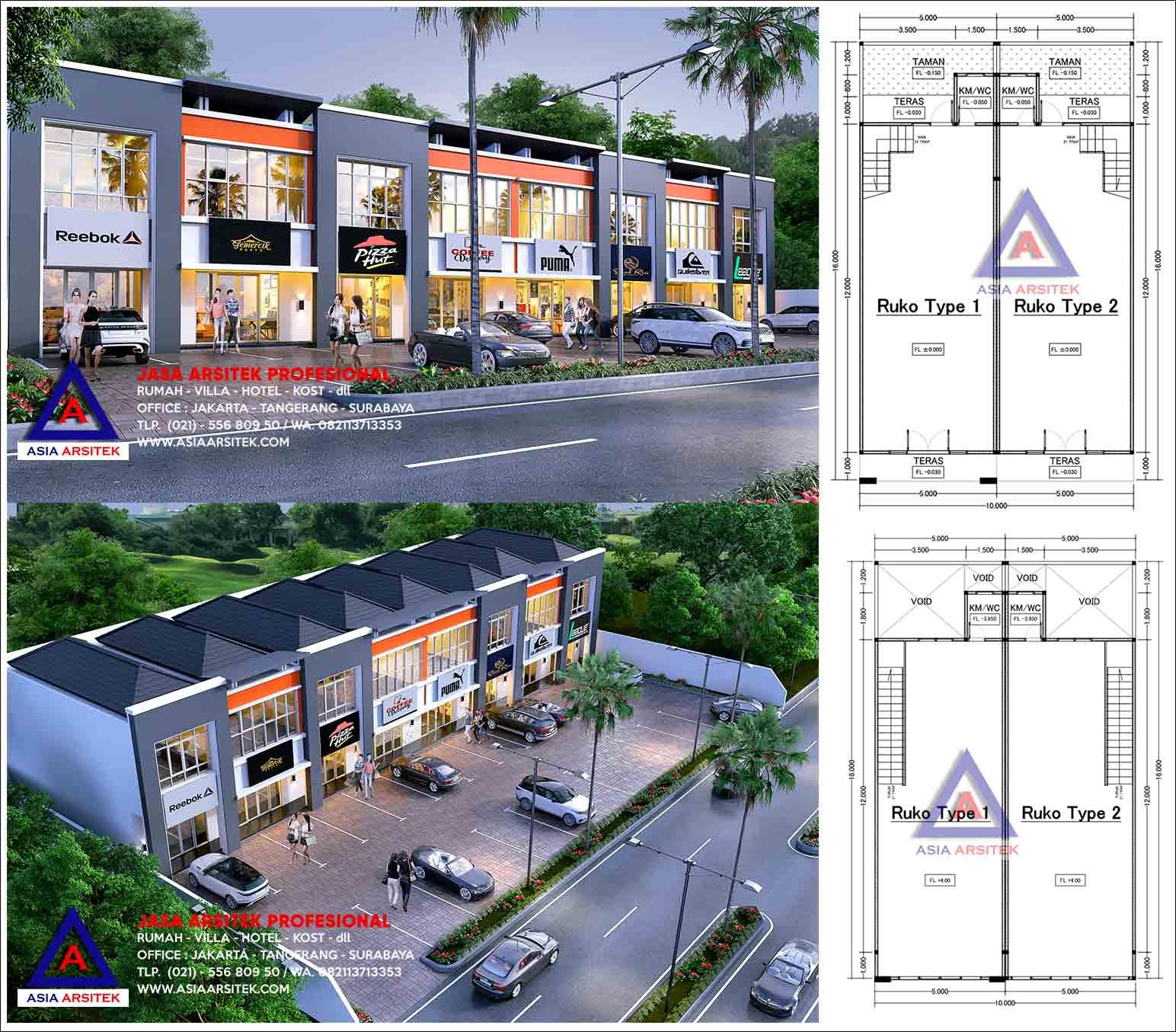 Jasa Arsitek Desain Ruko 2 Lantai Minimalis Di Sawangan Kota Depok
