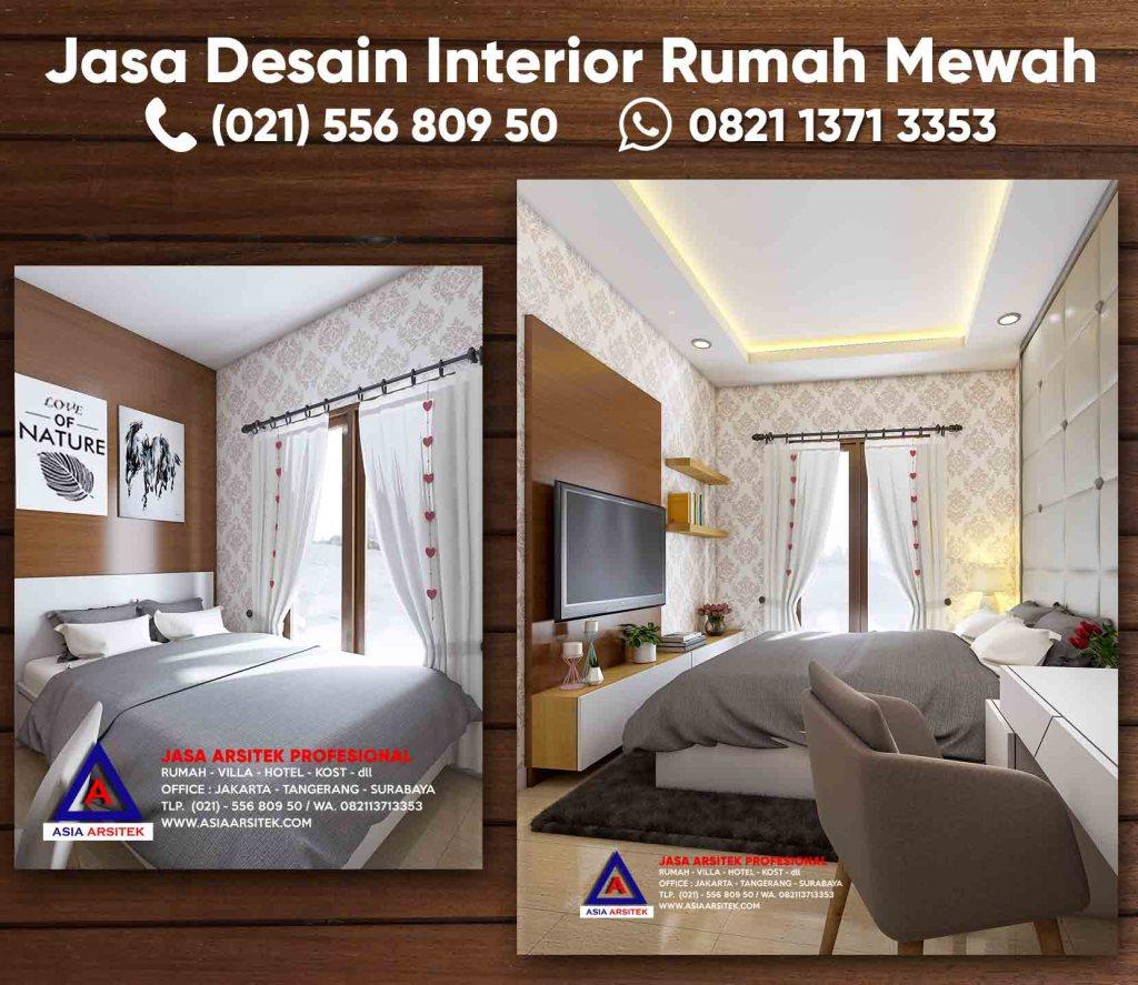 Jasa Desain Interior Rumah Kamar Tidur Minimalis Modern
