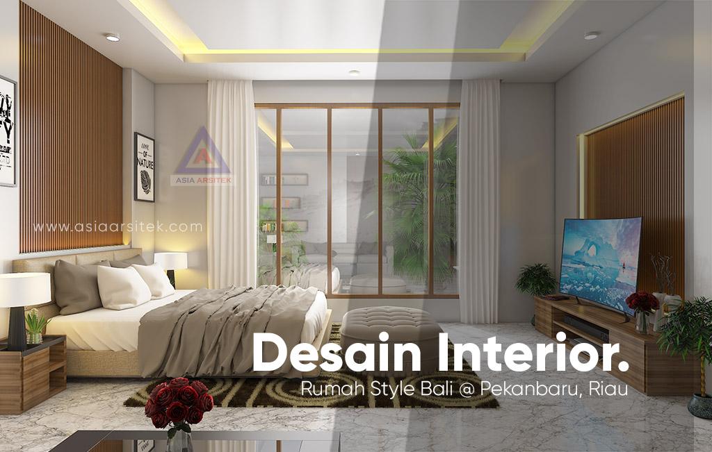 Jasa Arsitek Desain Interior Rumah Style Bali Tropis Di Pekanbaru Riau