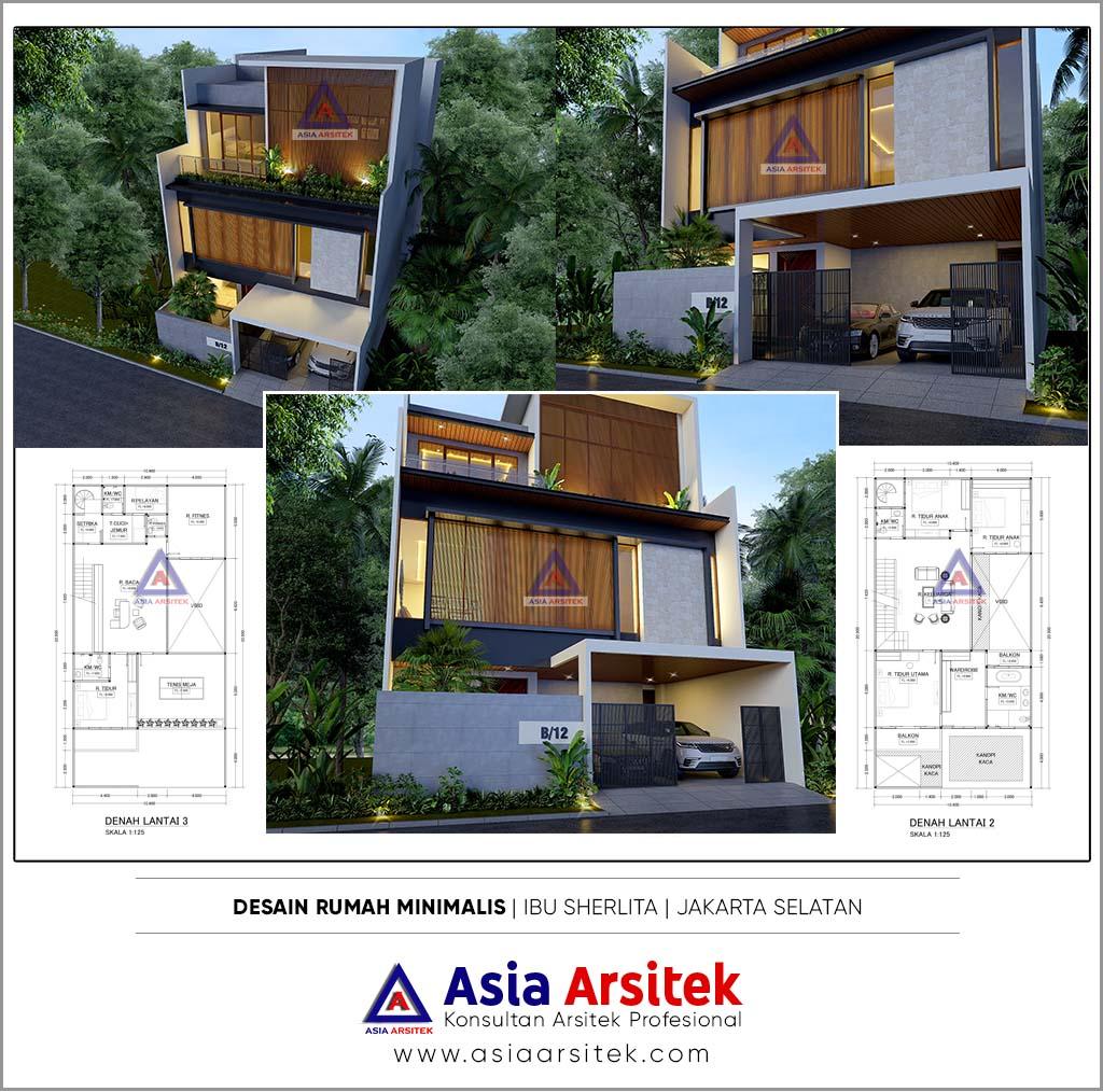 Jasa Desain Rumah Minimalis 3 Lantai Di Tebet Jakarta Selatan