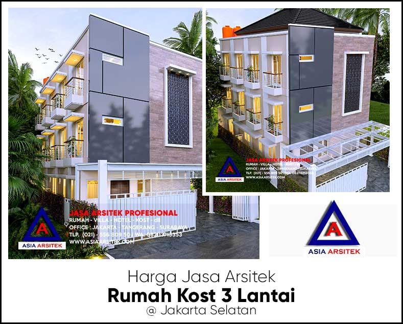Harga Jasa Arsitek Rumah Kost 3 Lantai di Jakarta Selatan