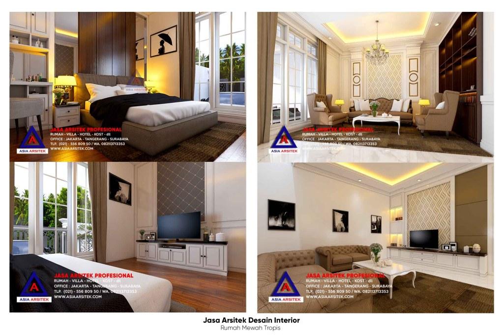 Jasa Arsitek Desain Interior Rumah Tropis Mewah 2 Lantai Di Jelambar Jakarta Barat