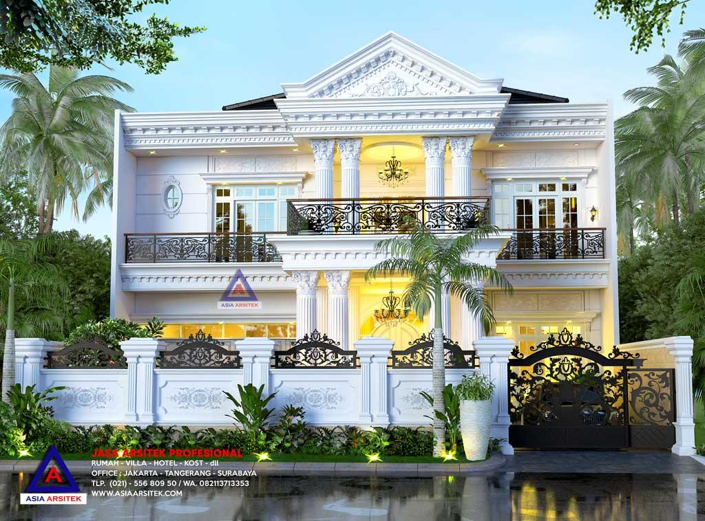 Jasa Arsitek Desain Rumah Classic Mewah 2 Lantai Di Bengkulu Sumatera