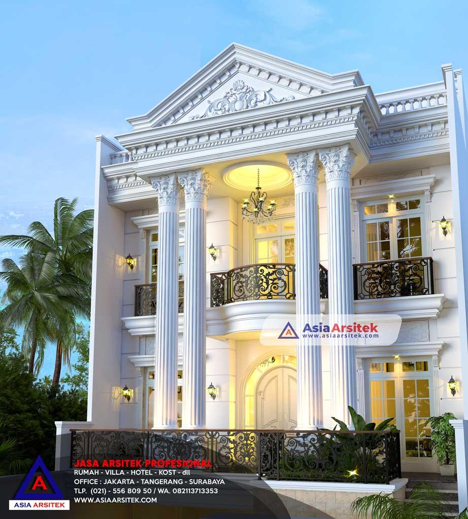 Jasa Arsitek Desain Rumah 4 Lantai Classic Mewah di Sunter DKI Jakarta