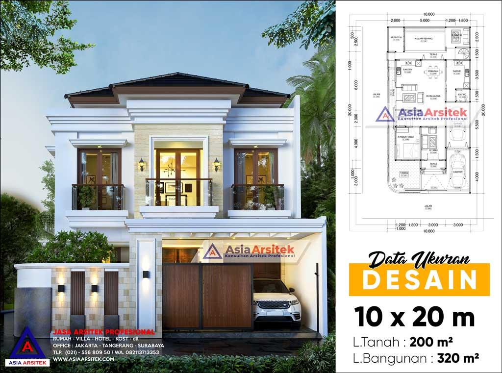 Jasa Arsitek Desain Rumah 2 Lantai Tropis Modern di Majalengka Jawa Barat