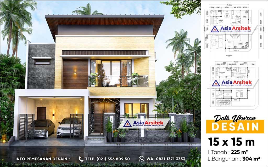 Jasa Arsitek Desain Rumah Mewah Hook Minimalis 2 Lantai di Ciputat Tangerang Selatan