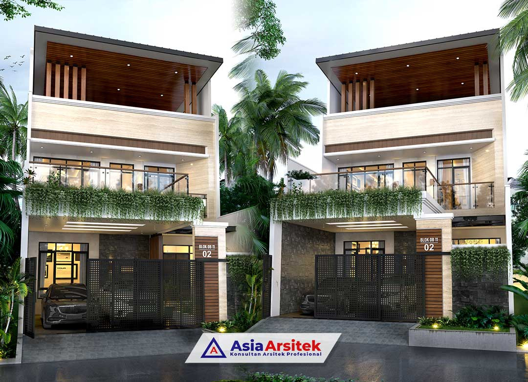 Jasa Arsitek Desain Rumah Classic Hook 2 Lantai di Bella Casa Residence Depok