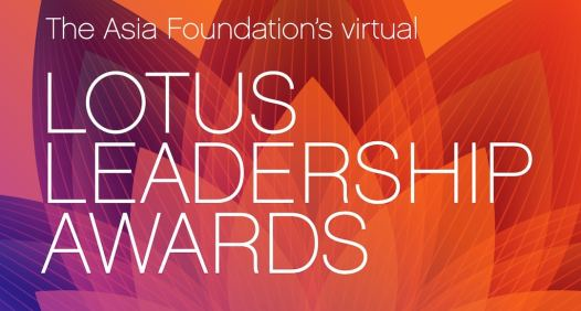 The 2021 Lotus Leadership Awards will be held virtually on Wednesday, April 18th at 6pm EST / 3pm PST (Image credit: Asia Foundation)