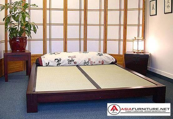 Tempat Tidur Kayu Jati Model Jepang