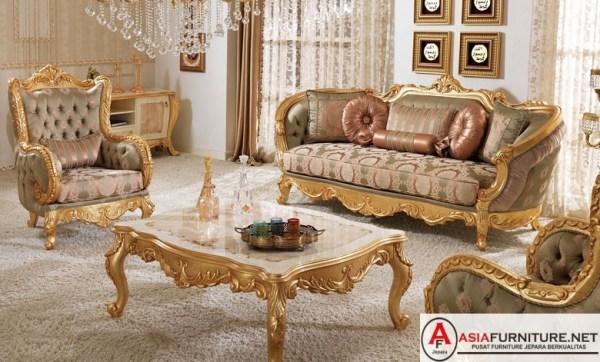 Kursi Tamu Luxury Klasik Ukiran Jepara