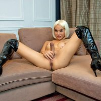 Asian Ladyboy Hung Helen And Her Big Black Whip!