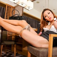 Sexy Secretary Shoot Of Newhalf Karina On Shemale Japan!