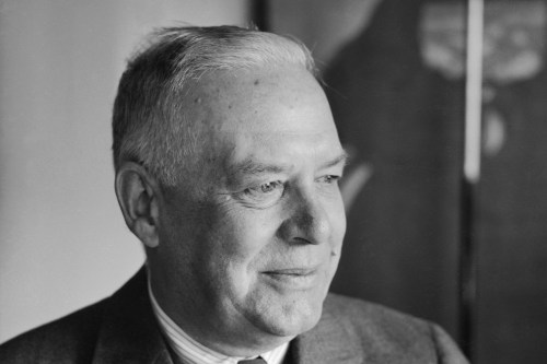 Profile of Wallace Stevens Smiling