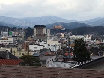 view of the mountains surrounding Takayama