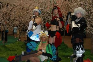 Odin Sphere group cosplay. Photo courtesy of Tom Plate.