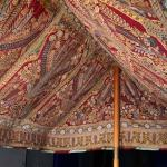 Interior of the roof section of a two-pole tent, Ottoman, before 1714. One of two tents on public display