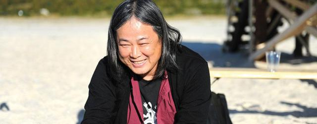 Yang Fudong on the beach at the SALT festival at Sandho rnoya in Norway. All images © Lisa Young 2014