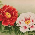 This page featuring two peony varieties identified as No. 27 Raiden and No. 28 Fuji-no-Mori is taken from a catalogue produced by the Yokohama Nursery Company from Japan