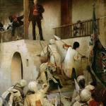 The Death of General Gordon, Khartoum, 26th January, 1885 by George William Joy, 1893, oil paint on canvas, 236 x 175 cm, Leeds Museums and Galleries