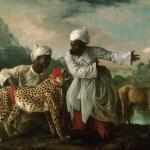 A Cheetah and Stag with Two Indian Attendants (1765) by George Stubbs, oil paint on canvas 1827 x 2753 mm © Manchester Art Gallery