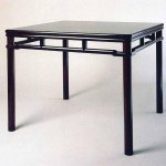 Square table with wrap-around humpbacked stretchers and double-moulded top, zitan wood, early Qing dynasty, 17th century, 88 x 92.5 x 92.5 cm. Donated by Dr T T Tsui, Tsui Art Foundation Ltd.Courtesy of the University Museum and Art Gallery