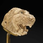 Lion's Head, Historic Syria, 9th–8th centuries BC, ivory, carved. With permission of the Royal Ontario Museum © ROM
