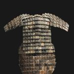 Model Armour, Qin dynasty (221-206 BC), limestone, armour, 99 x 75 cm, excavated in 1998, pit K9802, mausoleum complex of Qin Shihuangdi (died 210 BC), Lintong, Shaanxi Province. Photo: Courtesy Shaanxi Provincial Institute of Archaeology, Xi'an