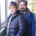 Cao Fei and husband Lim Tzay Chuen in their cinema studio, Beijing