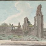 Quwwat al Islam mosque, Delhi, 1814. (WD716) Reproduced by permission of the British Library.