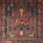 Buddha Shakyamuni, 15th century, Ngari (West Tibet), pigments on cloth.