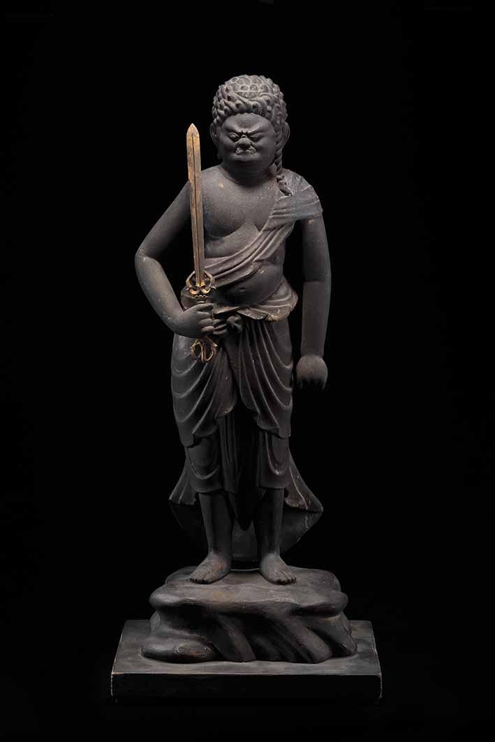 Standing Fudo Myoo, Heian period, 12th century,wood,height 54.2 cm, Koichi Yanagi