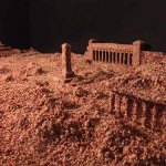 Tiananmen Square diorama covered in minced pork in the artist's Beijing studio. The original diorama of the square dates from 2010, the minced pork was added in 2014 and it was this version of the work that caused Jian to be thrown out of China following at interview that he gave to the London's Financial Times in the lead up to the 25th anniversary of the TS massacre