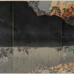 Our Elite Forces Capturing The Pescadores Islands in Taiwan by Kobayashi Kiyochika (1847-1915), triptych, ukioy-e, from a series of 33 triptyches Episodes from the Sino Japanese War (1894-1895), Japan, 1895, 37.2 x 72.1 cm, Paris, MNAAG © MNAAG, Paris, Dist. RMN-GP / Thierry Ollivier
