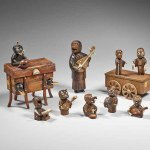 Orchestra of Monsters, wood, horn, second half of the 19th century, height 5 to 10 cm, Paris, MNAAG, Komorimiya Donation (1999) © RMN-GP (MNAAG, Paris) / Thierry Ollivier