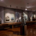 The second room of the South Asian Gallery (partial view), Buddhist schist sculptures, reliefs, and stucco heads, Gandhara, 1st to 5th century