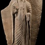 Standing Buddha, China, Northern Wei dynasty, late 5th/early 6th century, sandstone, 239 x 115 x 33 cm, Ben Janssens Oriental Art, London