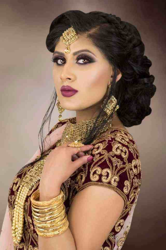 asian bridal makeup courses & hair courses - london - indian
