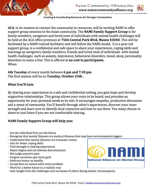 NAMI Meetings Notice