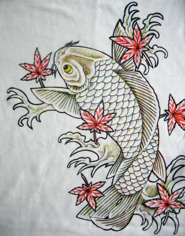 Koi Tattoo Design by ~BlueUndine on deviantART