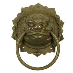 Repro Antique Finish Asian Brass Door Knockers