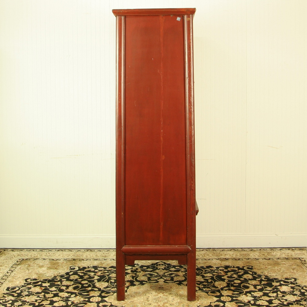 Antique chinese red brown noodle cabinet wedding wardrobe for H furniture facebook