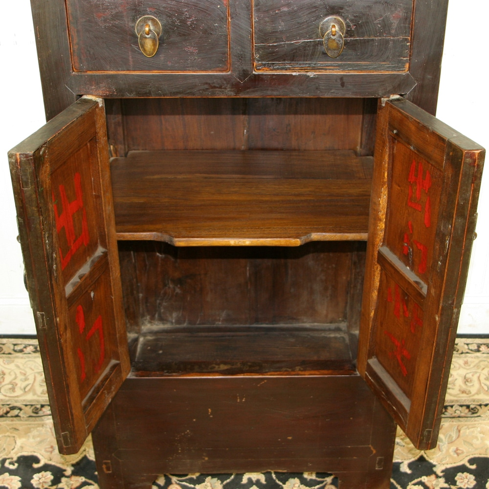 Antique ... - Antique Chinese Tall Display Linen Cabinet 27 Inch Wide 66