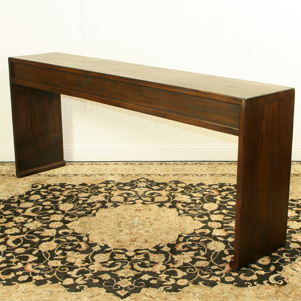 Asian 79 Inch Long 6 Drawer Console Table W Scroll Feet