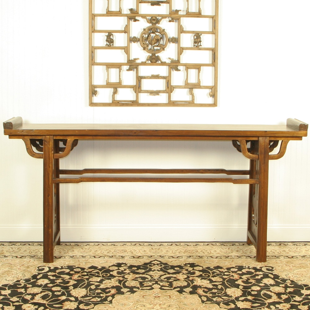 Asian 77 inch long altar console sofa table 13 deep by 38 tall asian 77 inch long altar console sofa table geotapseo Image collections