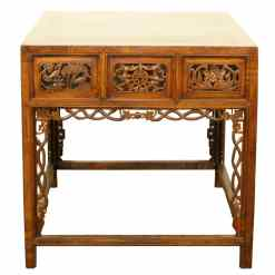 Rare Carved Antique Asian Walnut Hall Table